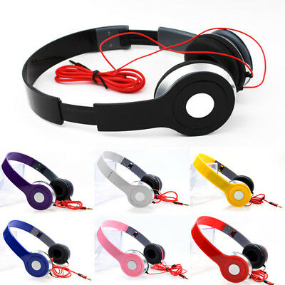 Stereo Headphones DJ Style Foldable Earphone Over Ear Headset Wired 3.5mm MP3/4