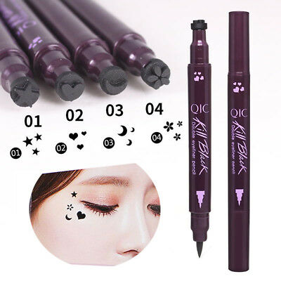 Waterproof Liquid Double Head Eyeliner Tattoo Stamp Liner Pencil Makeup Trendy