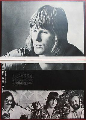 KEITH EMERSON NICE Lee Jackson Brian Davison 1970 CLIPPING JAPAN U1 D7 2PAGE