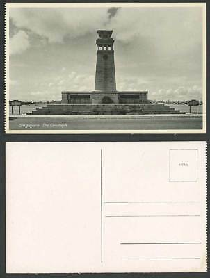 Singapore Old Postcard THE CENOTAPH Monument Memorial Straits Settlements Malaya