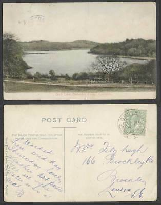 Ireland 1906 Old Postcard Back Lake Bellamont Forest Cootehill Co Cavan Panorama