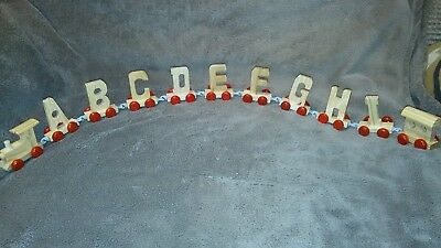 Girl Toy Wood Name Train Set Gift any 9 Letters Numbers Wooden Engine & Carriage