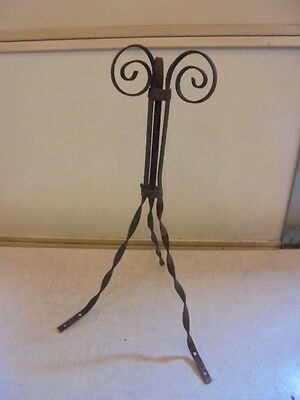 Antique Lightening Rod Twisted Curly Base Stand