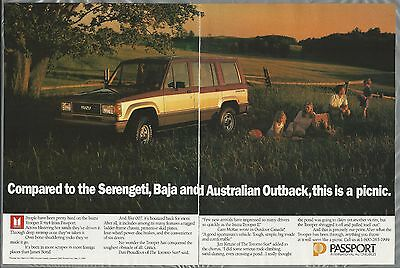 1989 ISUZU TROOPER II 2-page advertisement, Canadian advert Trooper on a picnic