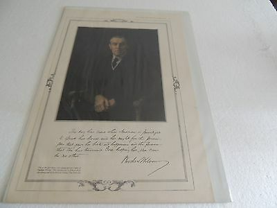 1917 Ladies Home Journal Original Political Poster Woodrow Wilson 1stcolor photo
