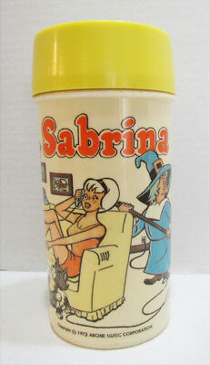 Sabrina The Teenage Witch 1972 Plastic Thermos Bottle For Lunchbox Archie Gang