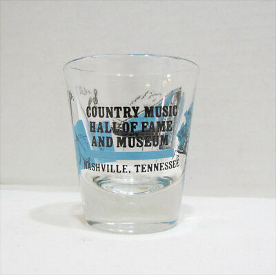 Country Music Hall Of Fame And Museum Vintage Shot Glass Nashville Tennessee Tn