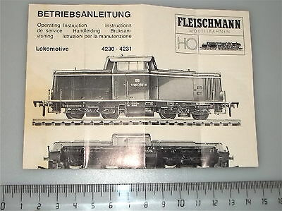 Fleischmann Manual 4230 Å