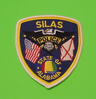 Silas  Alabama  Al  Police Patch   Free Shipping!!!