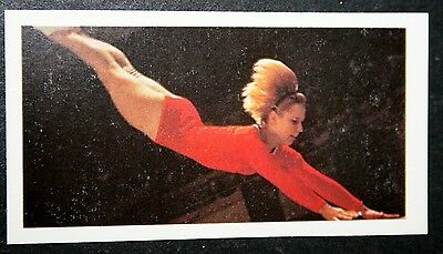 Caslavska    Womens Gymnastics   Czechoslovakia   Action Photo Card  # VGC