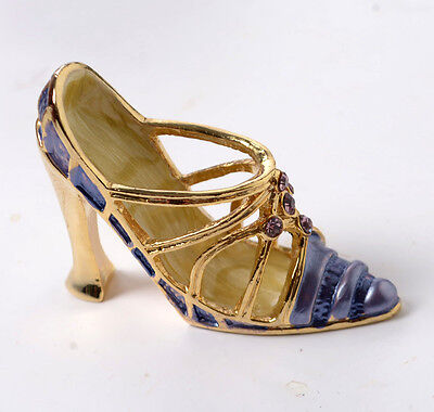 4 Shoes from the Gold Plated Leonardo collection - Crystal Delights -  Boxed