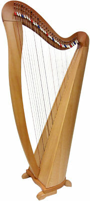 Glenluce Maberry 34 CORDA Harp, 4 Octaves, C2 TO a6. 34 SEMI colore LEVE