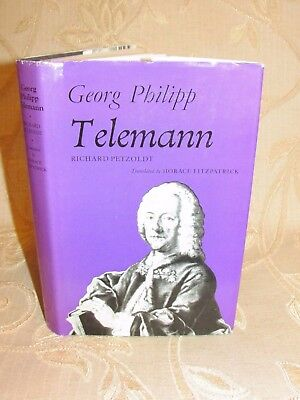 Vintage Book Of Georg Philipp Telemann, By Richard Petzoldt - 1974