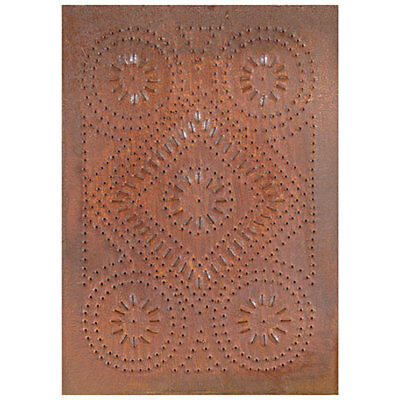 Country new distressed rusty punch tin DIAMOND design cabinet panel