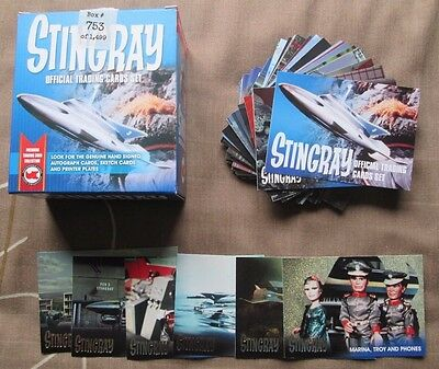 STINGRAY The Gerry Anderson Collection BASE & FOIL SET & BOX Trading Cards 2017