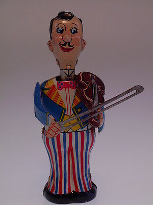 """MECHANICAL VIOLINIST PLAYER"", LINEMAR, 13cm, WIND UP OK, NEARLY NEW/NEU/NEUF"