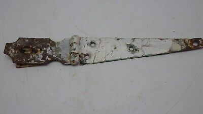 "Vintage Antique 12"" Hinged Hasp Latch Lock Gate Door Barn Chipy Rusty #1"