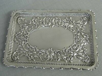 An Exquisite Antique Edwardian Solid Sterling Silver Tray - Chester 1901