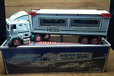 Hess 1997 Toy Truck And Racers ~~Friction Motor Race Cars~New In Box~