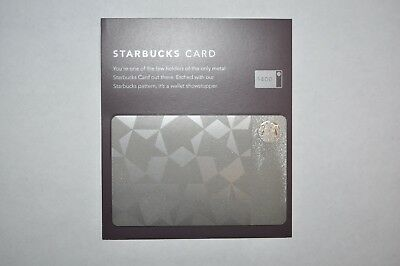 NEW RARE 2012 Stainless Steel Limited Edition Starbucks Gift Card w/ $0 balance