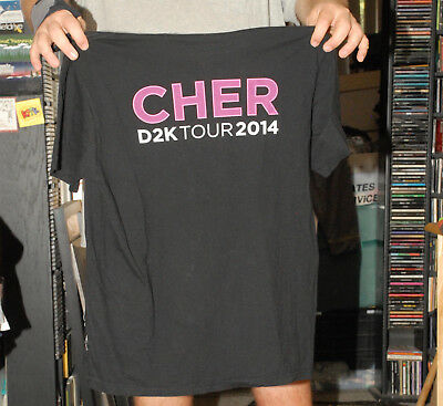 CHER d2k tour 2014 t shirt CREW HEMPHILL BROTHERS LARGE NEAR MINT
