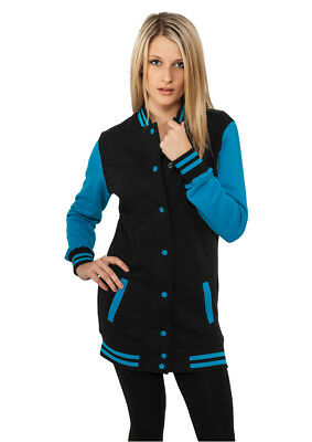 Ladies Long 2-tone College Sweatjacket Urban Classics Streetwear Giacca Donna