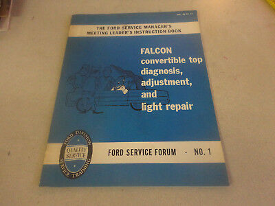 1962 Ford Car Service Manager Instruction Book Falcon Convertible Brochure