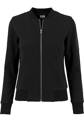 Ladies Sweat Bomber Jacket Urban Classics Streetwear Hoodies Felpa Cappuccio