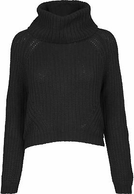 Urban Classics Ladies Short Turtleneck Sweater Streetwear Maglia Pullover Donna