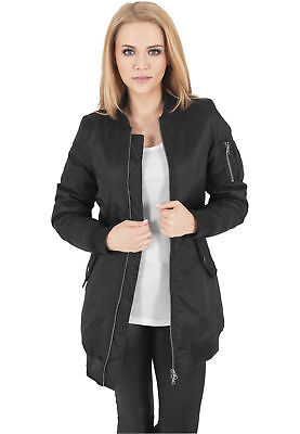MAG Urban Classics TB1092 Ladies Long Bomber Jacket Giacca donna  Streetwear