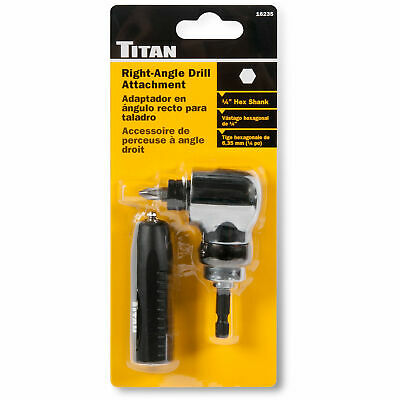 Titan Tools 16235 Right-Angle Drill Attachment, 1/4-inch Hex Shank