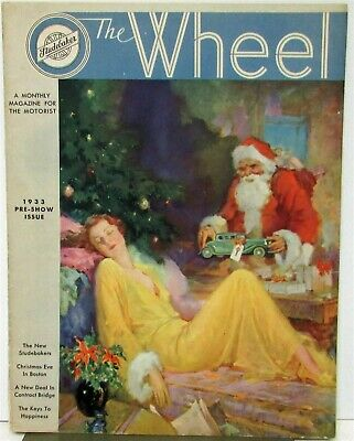 1932 Studebaker Wheel Magazine 1933 Pre Show Issue Original