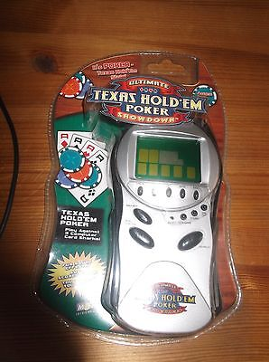 MGA Ultimate Texas Hold'em Poker Showdown Handheld Electronic Video Game NIB