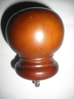 "Finial Cap Cane topper FN01 Oak Carved Wood 2"" x 2 1/2""  thread 1/4x28 FREE SHIP"