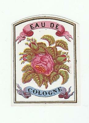 Lovely Early to Middle 1800's Original Eau De Cologne Label French or American