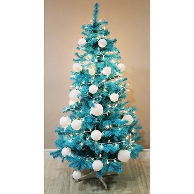 Homegear 6FT Artificial Turquoise Christmas Xmas Tree
