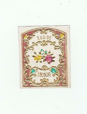 Lovely Early to Mid 1800's Original Eau De Cologne Label Heavily Embossed