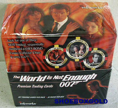 James Bond 007, World is Not Enough, Factory Sealed Trading Card BOX, Inkworks