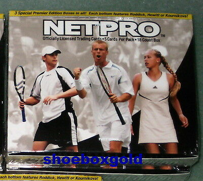 2003 Net Pro Premier Edition Tennis, Factory Sealed Hobby Box