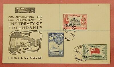 1951 Fdc Tonga Treaty Of Friendship Issues