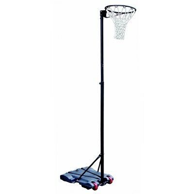 Woodworm 3.05m Pro Adjustable Height Netball Post and Net Set on Wheels