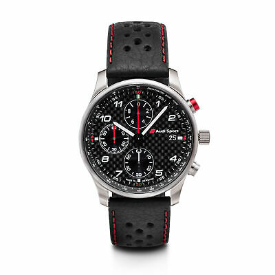 Audi Montre Chronographe Charbon Sport 3101700200 Mouvement à Quartz Citizen 6