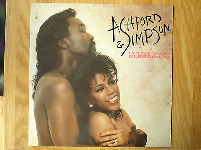 """Ashford & Simpson Count Your Blessings 12"""" Single 1986 N/mint"""
