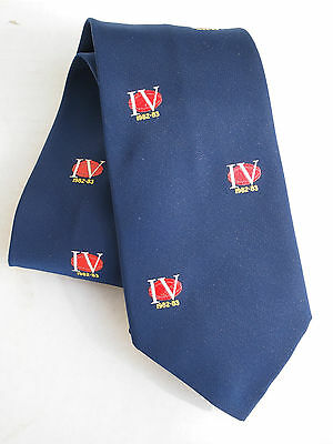 Vintage Rugby Tie -   Iv Rugby 1982 -1983  Great Collectors  Rugby Rufc Rlfc