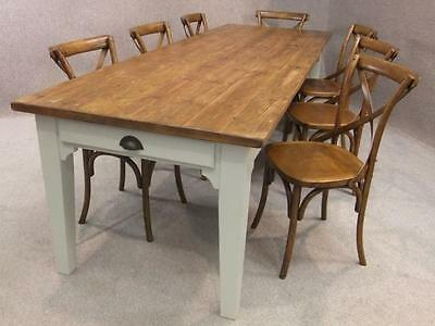 5Ft Reclaimed Pine Country Farmhouse Table With A Painted Base Burford