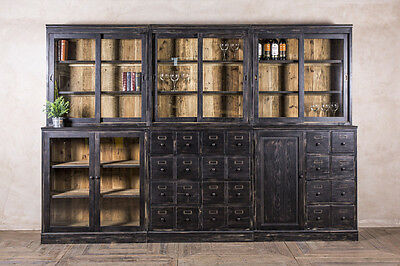 Large Cabinet Shelving Unit Bar Storage Cabinet With Cupboards And Drawers