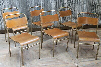 Vintage Industrial Stacking Chairs With Gold Frames Vintage Restaurant Seating