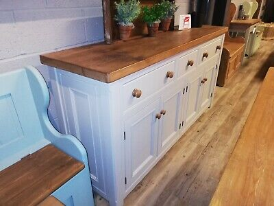Reclaimed Pine Kitchen Unit Farrow & Ball Painted Base Broadwell