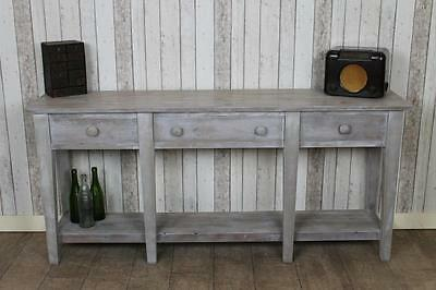Made To Order Reclaimed Pine Sideboard White Wash Finish 6Ft The Naples