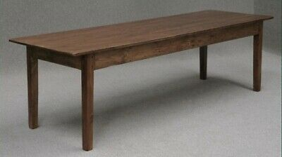 A Large French Farmhouse Pine Kitchen Table 200Cm Long